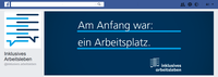 "Screenshot der Facebookseite ""Inklusives Arbeitsleben"""